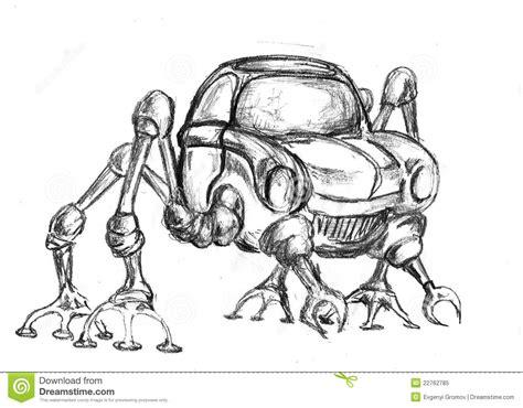 robot sketch stock illustration image  automobile