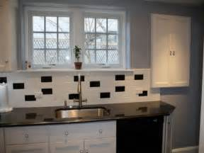 backsplash for black and white kitchen classic black and white subway tile backsplash ideas for small kitchen with stainless steel