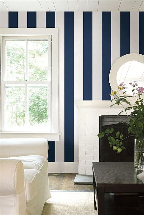 nantucket stripe wallpaper  smart dark navy blue