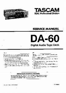Tascam Da60 Service Manual Download  Schematics  Eeprom  Repair Info For Electronics Experts