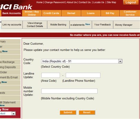 phone number for bank needlecraft icici bank updating your address and mobile