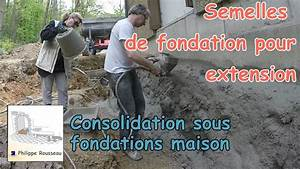 fondation beton 2 consolidation sous fondations youtube With comment faire des fondations de maison
