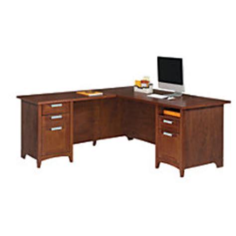 Corner Desk Office Depot by Corner L Shaped Desks At Office Depot Officemax
