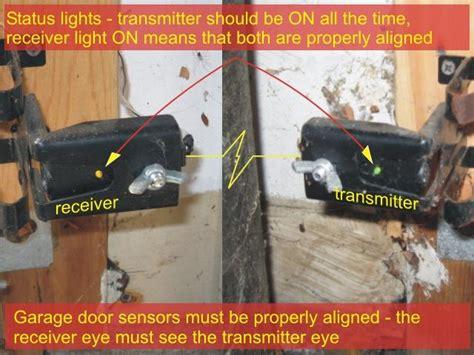 garage door sensor light automatic garage door opener issue dope message