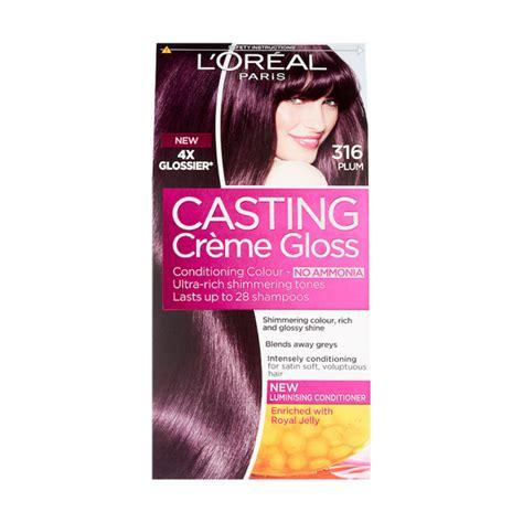 L'oreal paris casting creme gloss no ammonia hair color 300 dark brown. Buy L'Oreal Casting Creme Gloss 316 Plum Semi Permanent ...