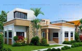Top Photos Ideas For Cheap Small House Plans by Four Bedroom One Storey With Roof Deck Shd 2015021