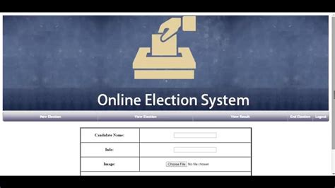 election system php youtube