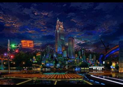 Anime Scenery Wallpapers Background Night Desktop Wall