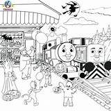 Train Thomas Coloring Pages Drawing Halloween Printable Friends Diesel Cartoon Tracks Colouring Activities Sheets Printables Railroad Christmas Template Tank Engine sketch template