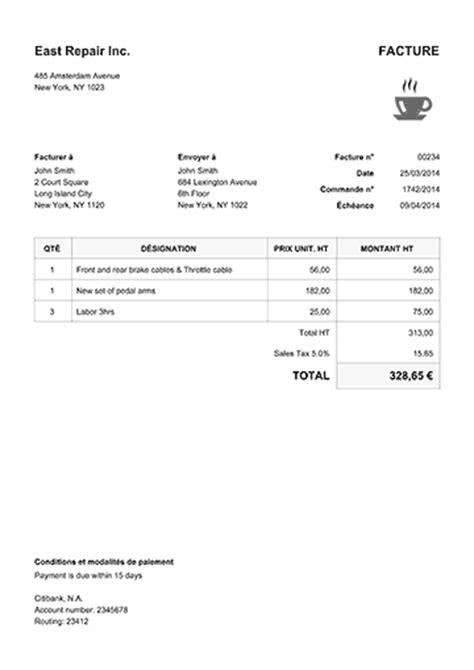 fourniture de bureau en anglais facture créer une facture envoyer se faire payer
