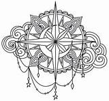 Embroidery Compass Coloring Patterns Printable Mandala Tattoo Urban Threads Sky Unique Rose Flowers Awesome Urbanthreads Adult Nautical Colouring Theshabbycreekcottage Burning sketch template