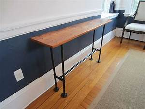 custom barnwood console table by john gaines woodworking With custom barnwood tables