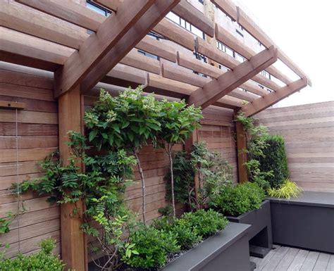arbor roof deck container planting urban landscape garden design topiarius roof