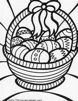 Coloring Easter Basket Print sketch template