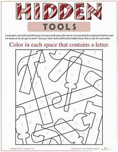 Worksheets For Kindergarten About Tools. Worksheets. Best ...