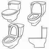 Toilet Flush Drawing Vector Clip Illustrations Vectors sketch template