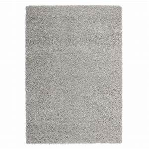 trendy tapis de salon shaggy gris 160x230 cm achat With tapis tufté gris