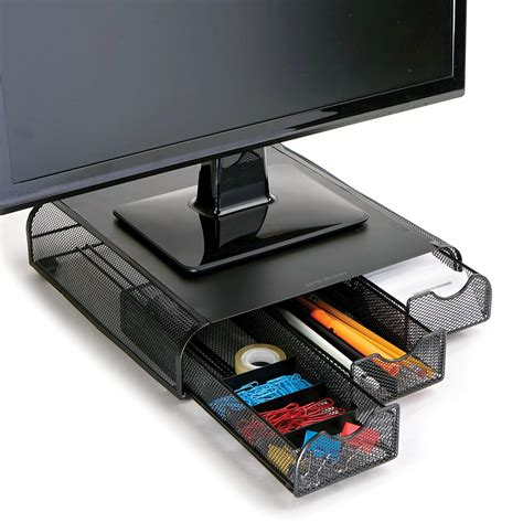desk organizer monitor stand amazon com mind reader 39 perch 39 pc laptop imac monitor