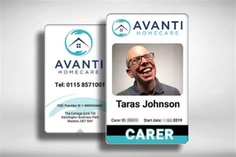 vertical home care id card