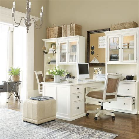 White Office Furniture by Tuscan Return Office Large Room Ideas