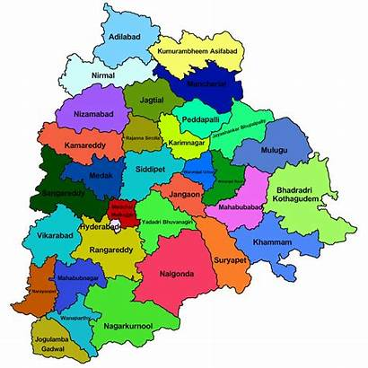 Telangana Map Districts 33 Government