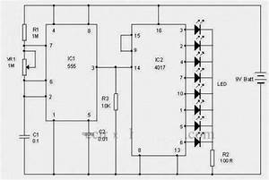 Led Chasing Effect Using Ic 4017  Decade Counter  And Ic
