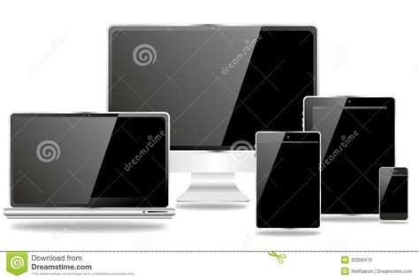 Computers And Mobile Devices Royalty Free Stock Images