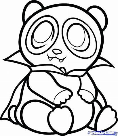 Panda Drawing Kawaii Coloring Pages Draw Clipartmag