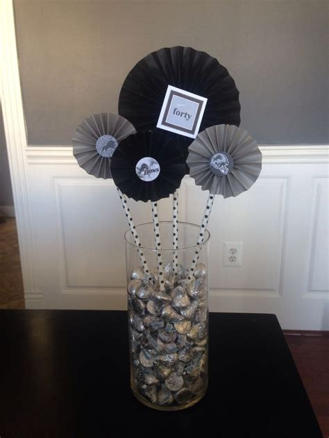 image result  center pieces   mans birthday party