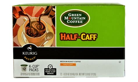 Green Mountain Coffee Half Caff Medium Roast K Cups Pack And Half Caff K Cup Pods   SroulJet