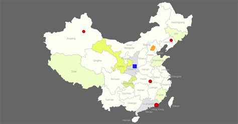 interactive map  china clickable provincescities