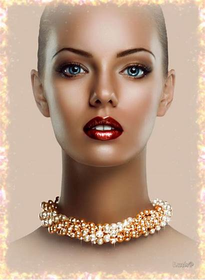 Gifs Animation Face Animated Lady Glitters Decent