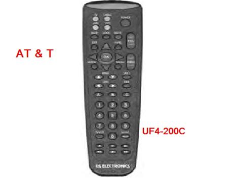 At&t Uf-4-200c Universal Remote Control