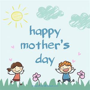 Mother's day calligraphy drawing card Vector | Free Download