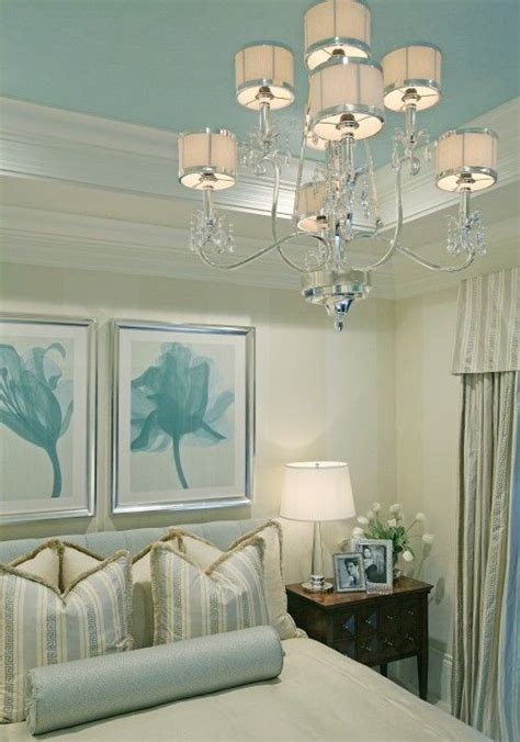 Bedroom Ceiling Paint Ideas by Coastal Glam Tray Ceiling Color Bedrooms