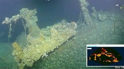 underwater footage  famed pearl harbor ship uss