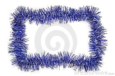 blue tinsel border royalty  stock images image