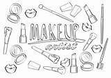 Coloring Artist Makeup Vector художника макияжа страница Cartoon τη καλλιτεχνών σελίδα Brushes Whitesbelfast Cosmetics Beauty Profession Alphabet Abc με Palette sketch template