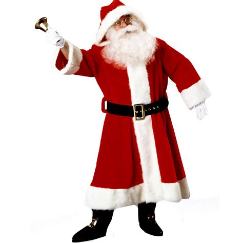 cheap old time santa suit with hood costume at go4costumes com