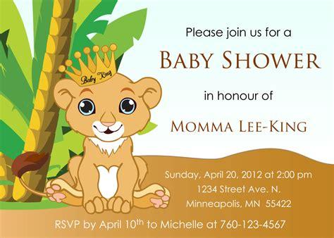 lion king baby shower invitation dolanpedia invitations