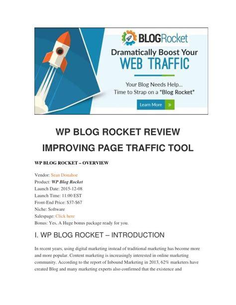 Ppt  Wp Blog Rocket Review  Should You Buy It