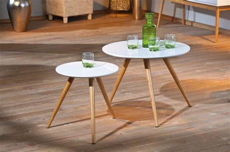 design couchtisch rund beistelltisch phillis couchtisch rund im 2er set retro design wei 223
