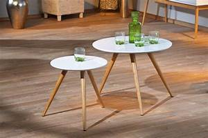 Couchtisch Rund Weiß Holz : beistelltisch phillis couchtisch rund im 2er set retro design wei ~ Bigdaddyawards.com Haus und Dekorationen