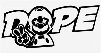 Dope Mario Decal Transparent Nicepng