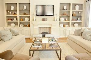 Built In Cabinets - Transitional - living room - Munger