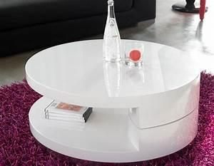 Table Basse Ronde Blanc Laqué : table basse ronde laqu e cuisine naturelle ~ Teatrodelosmanantiales.com Idées de Décoration