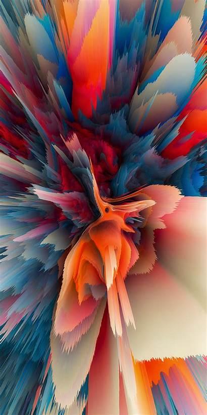 Phone Warp Particle обои галактика Colorful Dimensional