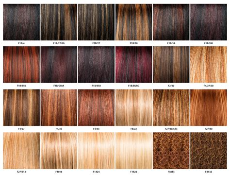 On Hair Color by Color Chart