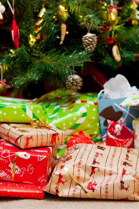 presents under the christmas tree free stock photo