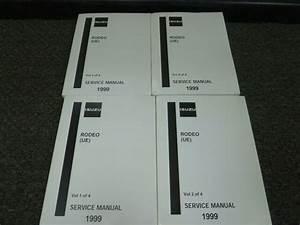 1999 Isuzu Rodeo Suv Shop Service Repair Manual 4 Vol Set